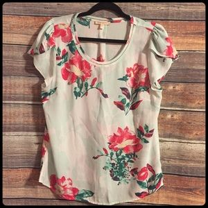 Stitch fix / skies are blue floral blouse